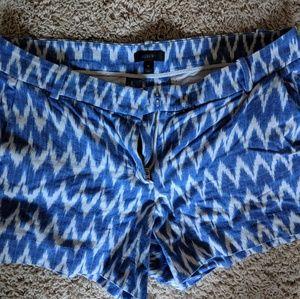 Jcrew blue and white Chevron shorts